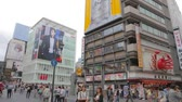 dotonbori : OSAKA, JAPAN - CIRCA October 2014 :Tilt pan at Dotonbori main square