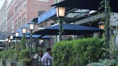 patio : VANCOUVER,CANADA - CIRCA July 2012 :scene at yaletown patio Stock Footage