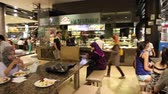 a look at an upscale food court