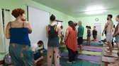 CHIANG MAI,THAILAND - CIRCA June 2016 :yoga group in thailand standing