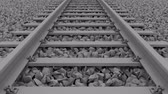 cascalho : railway track loop white Stock Footage