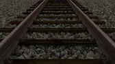 cascalho : railway track loop Stock Footage