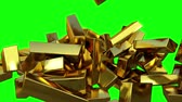 A lot of gold bar 1 Stock Footage