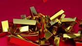 A lot of gold bar 2 Stock Footage