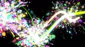 arte abstrata : Glowing paint strokes black background