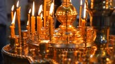 piety : The candles in Russian orthodox Church bokeh