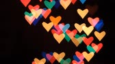bokeh : Heart bokeh background. Valentines day background