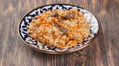 plov : Dish with pilaf Uzbek dishes