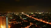 Time-lapse traffic timelapse of bangkok night, Thailand Vídeos