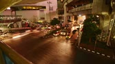 Time-lapse traffic timelapse of bangkok night, Thailand. Vídeos