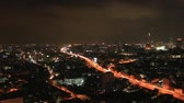 Timelapse view of cityscape at night on in Bangkok, Thailand.