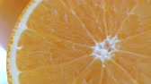 An orange fresh fruit, rotary motion shot, 4k