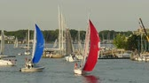 estância termal : ANNAPOLIS, MD - MAY 20: Yachts and sailboats sail on Spa Creek, returning from Wednesday Night Racing activities on May 20, 2015 in Annapolis.
