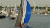 среда : ANNAPOLIS, MD - MAY 20: Yachts and sailboats sail on Spa Creek, returning from Wednesday Night Racing activities on May 20, 2015 in Annapolis.
