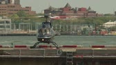 letectví : NEW YORK - JULY 14: A helicopter readies for takes-off at the Downtown Manhattan Heliport on July 14, 2013 in New York City. Dostupné videozáznamy