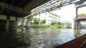 praya : river cruise on chao praya river in bangkok Stock Footage