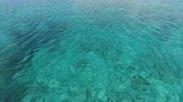arka plân : ocean close up from croatia Stok Video