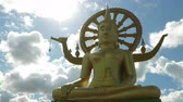 kind : Big Buddha statue on Koh Samui Stock Footage
