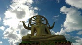 buddhista : Big Buddha statue on Koh Samui Stock mozgókép
