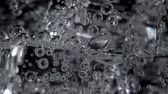 ice pop : Video of mineral water with bubbles in glass Stock Footage