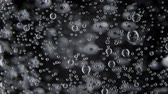 ice pop : Video of water with bubbles on black background