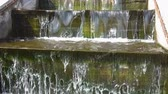 schody : Polluted artificial waterfall in the park