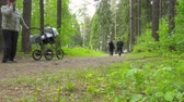 fiets : Walking people in the forest