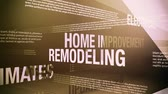 house : Home Improvement Related Terms Stock Footage