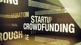 Crowdfunding Related Terms Стоковые видеозаписи