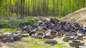 smród : An old partially buried garbage dump. Wideo