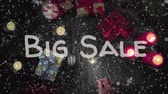 sonderangebot : Animation Big Sale, New Year, female hand holding a sparkler