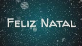 primórdios : Animation Feliz Natal - Merry Christmas in portuguese, falling snow, blue background