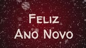 dopis : Animation Feliz Ano Novo - Happy New Year in portuguese language, greeting card