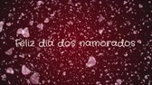 약혼 : Animation Feliz dia dos Namorados, Happy Valentines day in portuguese language, greeting card