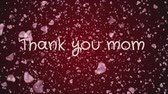 vaandel : Animation Thank you mom, mothers day, greeting card Stockvideo