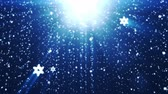 cierge magique : Holiday background with snowflakes, against blue