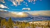 palourde : Timelapse du Colorado, Breckenridge, US Mountain Lake, en hiver
