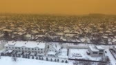 houses and mansions : The roof of a small city in the winter