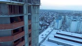 quadcopter : A view of the city because of the buildings Stock Footage