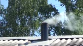 gutter system : The smoke belching from the chimney
