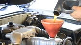 lubrication : refill lubricant oil in to engine car