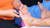 healer : simple massage foot of thailand Stock Footage