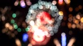 çok renkli : Beautiful Bokeh Of Fireworks Stok Video