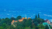 light : Time Lapse Wat Phra That Doi Suthep On Mountain Of Chiang Mai, Thailand