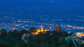 montanha : Time Lapse Wat Phra That Doi Suthep On Mountain Of Chiang Mai, Thailand pan up