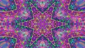 fractal background : Colorful Kaleidoscopic Video Background. Colorful kaleidoscopic patterns. Zoom in rainbow color circle design. Or for events and clubs medalion, yoga, india, arabic, mandala, fractal animation