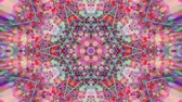 украшение : Colorful Kaleidoscopic Video Background. Colorful kaleidoscopic patterns. Zoom in rainbow color circle design. Or for events and clubs medalion, yoga, india, arabic, mandala, fractal animation