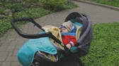 potomstvo : Sweet little baby boy sleeping in stroller Dostupné videozáznamy
