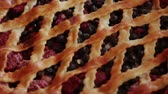 gelosia : Berry cake made by own hands on a wooden background.