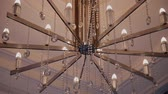 deprem : Big beautiful shiny chandelier in the mall.